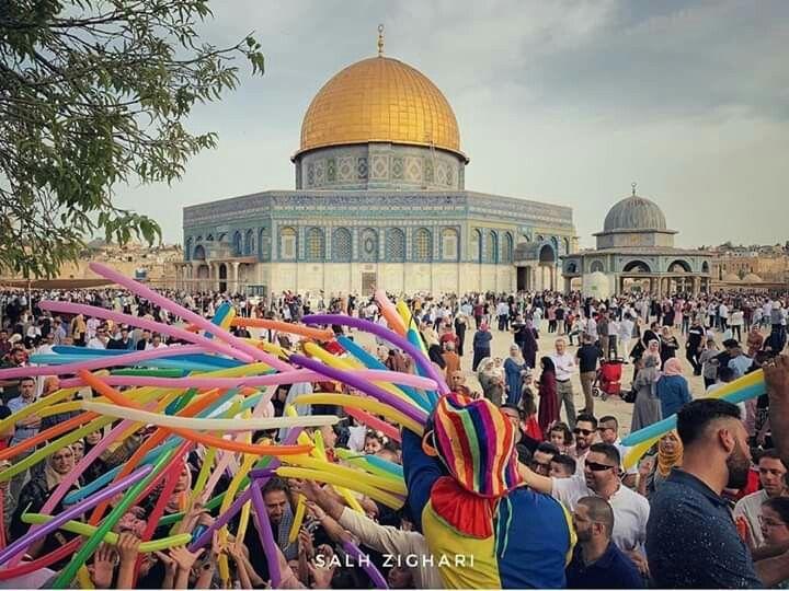 اول يوم عيد الفطر المسجد الأقصى القدس فلسطين شوال 1440 يونية 2019 Taj Mahal Photo Landmarks