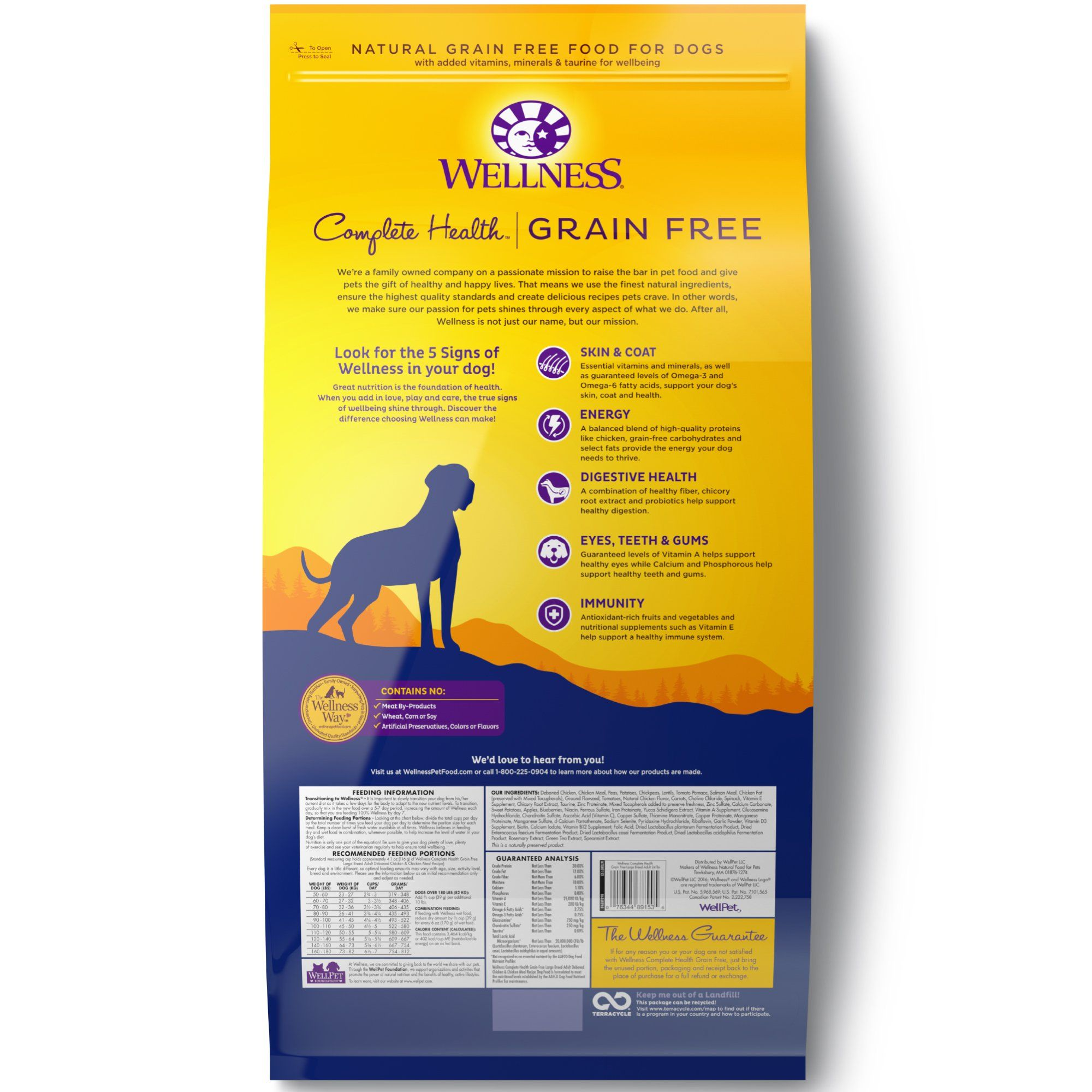 Wellness Complete Health Grain Free Large Breed Deboned Chicken