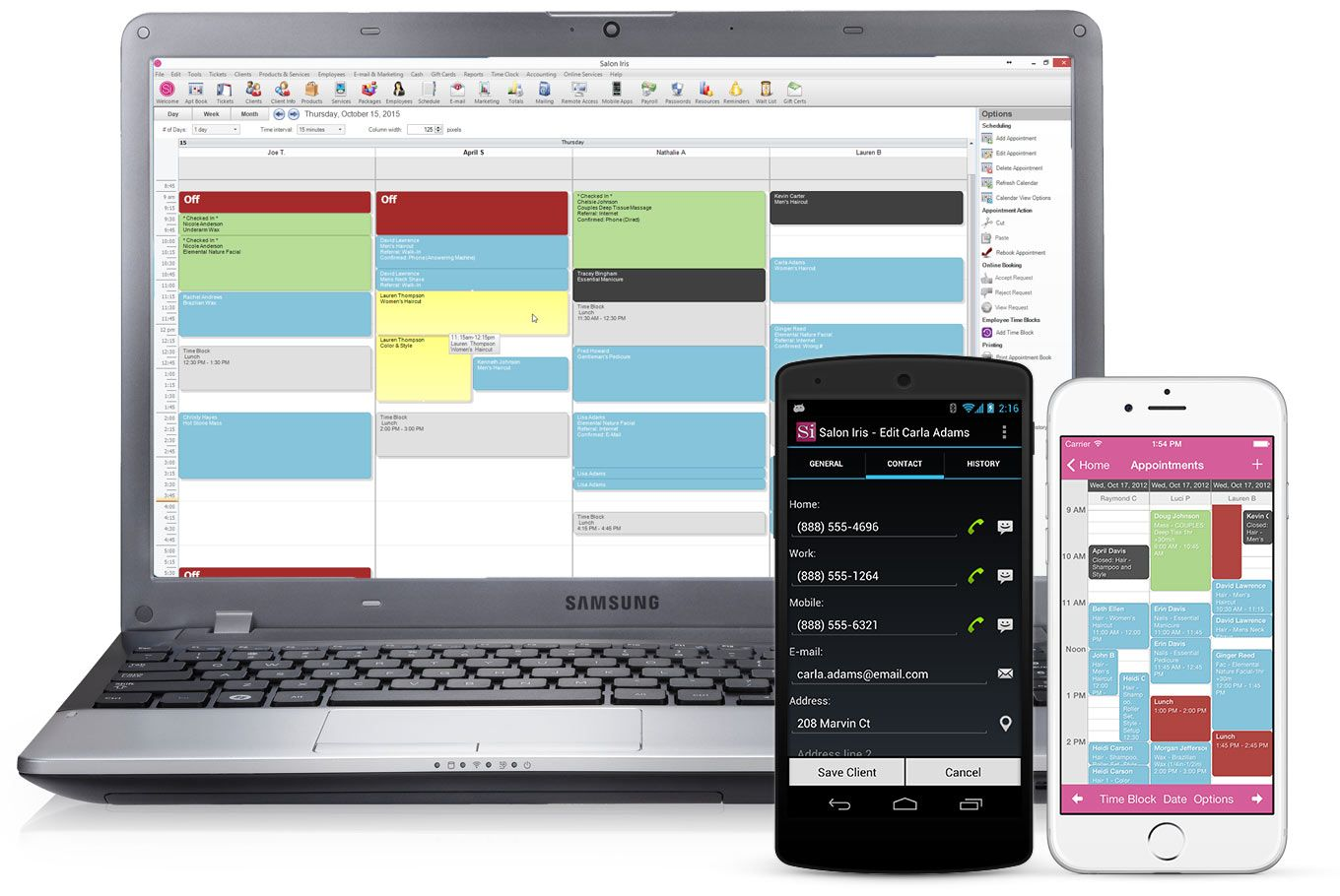 appointment scheduling software mobile apps Salon
