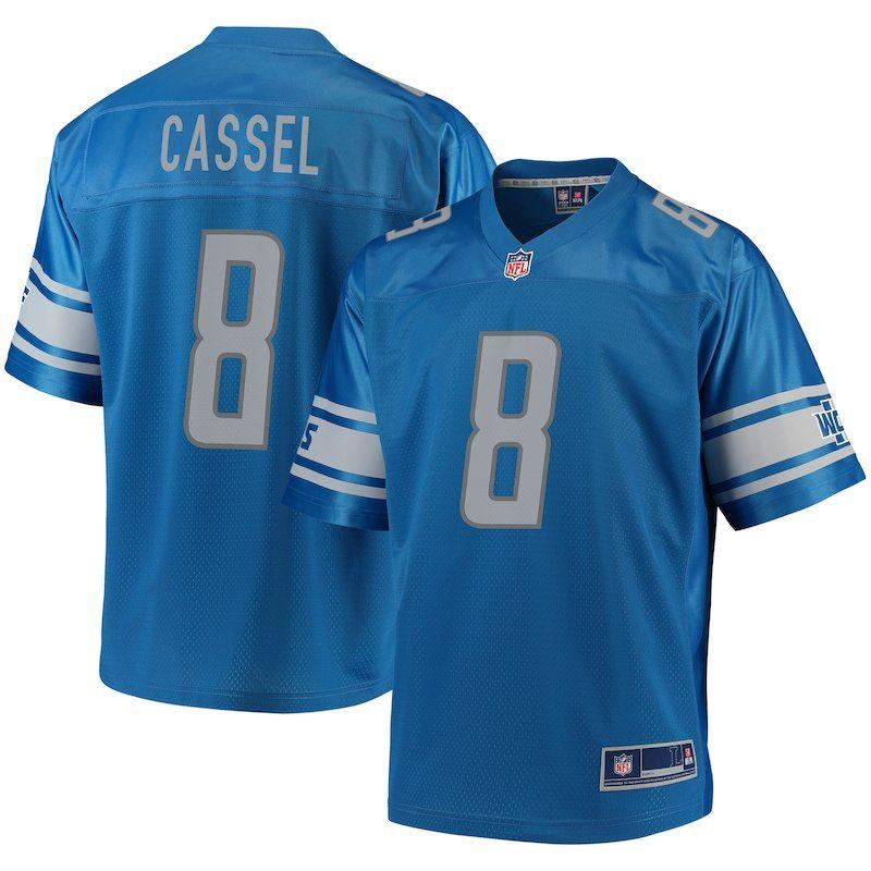 77f8185cc83 Matt Cassel Detroit Lions NFL Pro Line Player Jersey – Blue ...