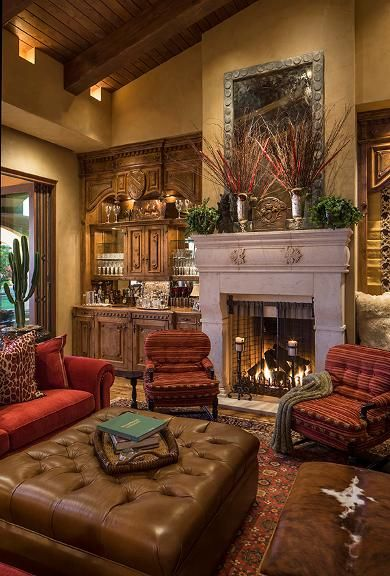 Beautiful tuscan living area mediterranean tuscan old - Italian inspired living room design ideas ...