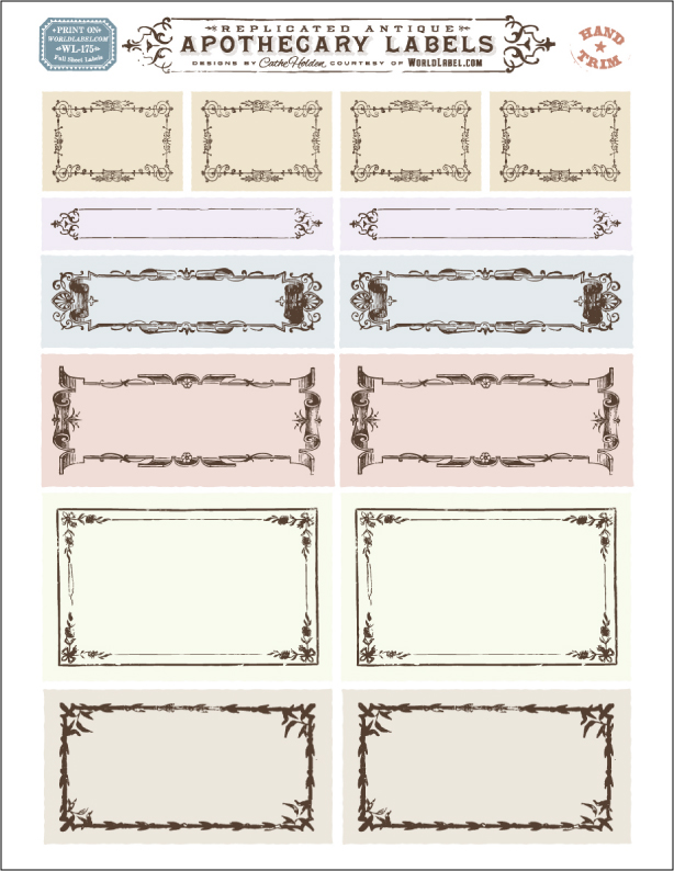 Ornate Apothecary Blank Labels By Cathe Holden Free Printable Labels Templates In 2020 Vintage Labels Printables Labels Printables Free Templates Apothecary Labels