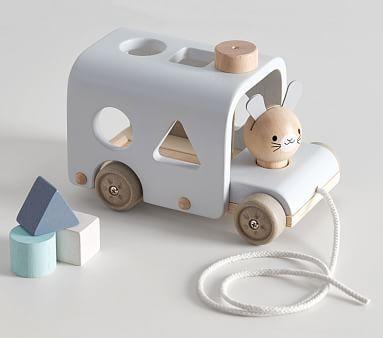 Plan Toys X Pbk Bunny Sorting Bus Plan Toys Wooden Baby