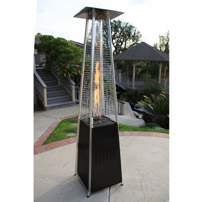 Garden Radiance Dancing Flames Black Pyramid Outdoor Patio Heater