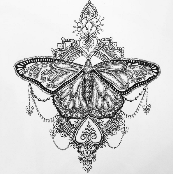 121ce349326d8 Image result for mandala rose tattoo Beautiful Tattoos, Unique Tattoos,  Butterfly Thigh Tattoo,