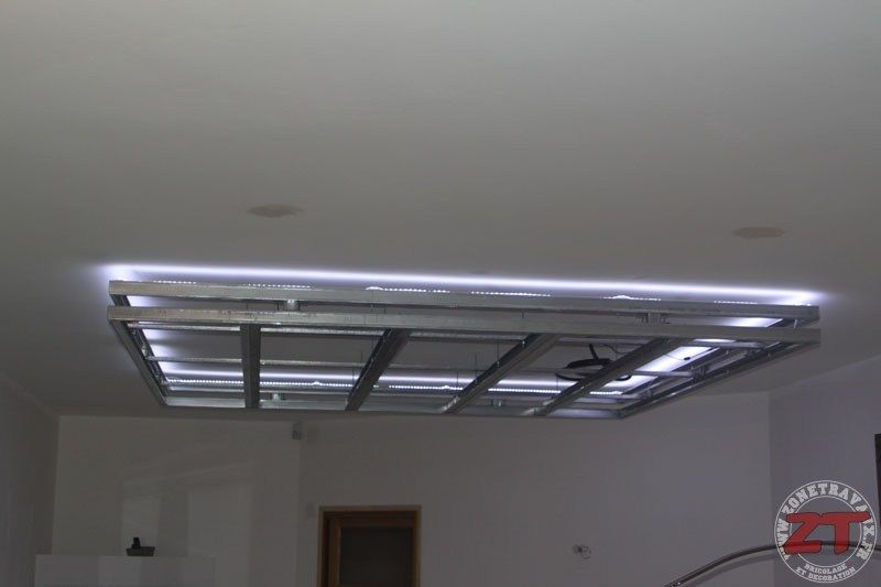 Brico Creation D Un Faux Plafond Avec Ruban Led Et Spots Faux