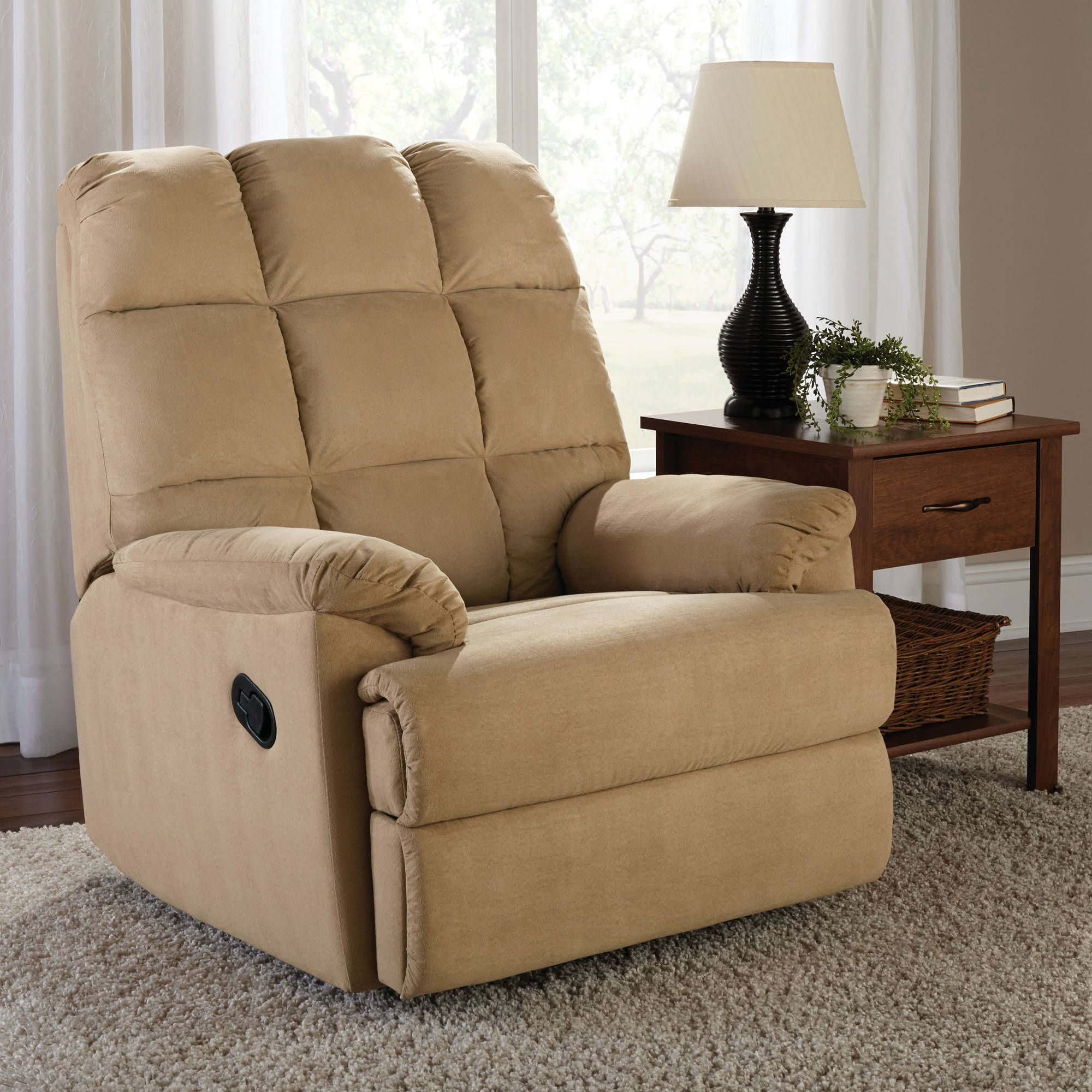 Shop For Recliners In Living Room Furniture. Buy Products Such As Oakwood  Microfiber Recliner, Multiple Colors, Mainstays Microsuede Rocker Recliner  At ...