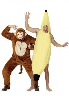 Costume coppia scimmia e banana adulto 5b02b9237ff