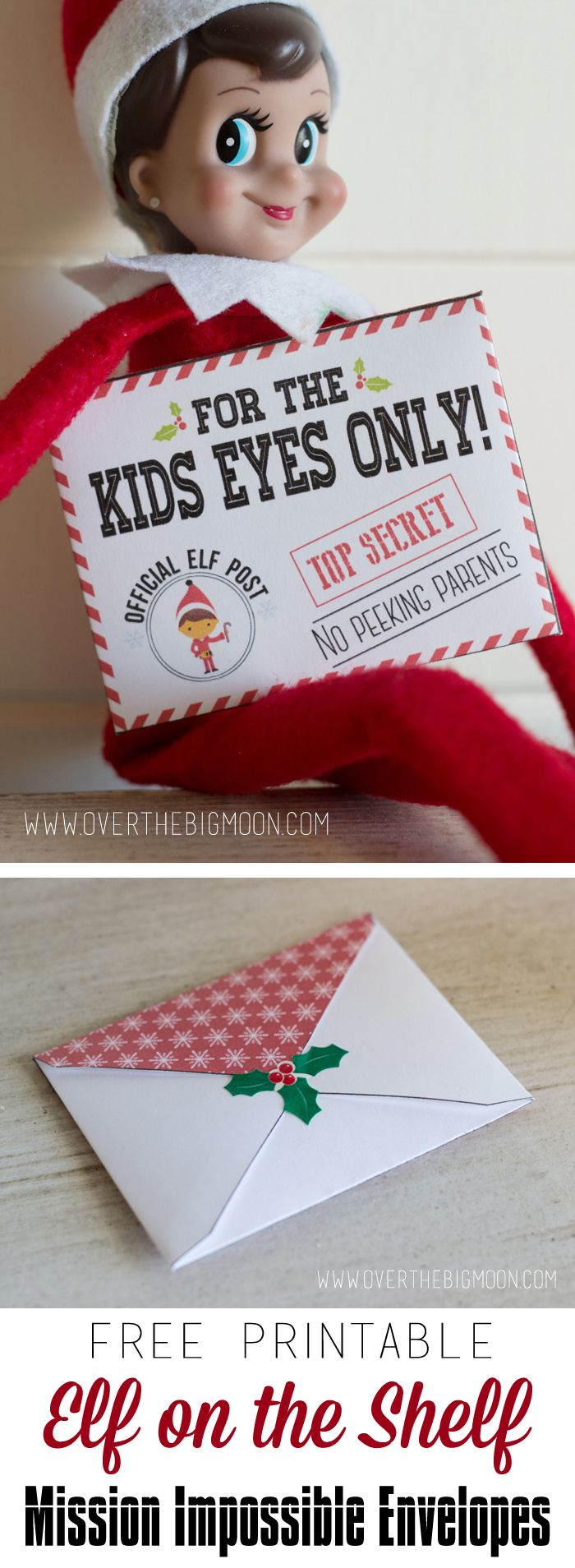 Elf On The Shelf Mission Impossible Envelopes And Cards | Big Moon