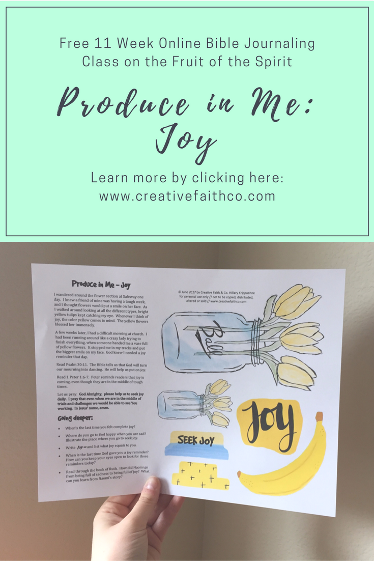Produce in Me: Week 3 | Bible Journaling Freebies | Fruit of