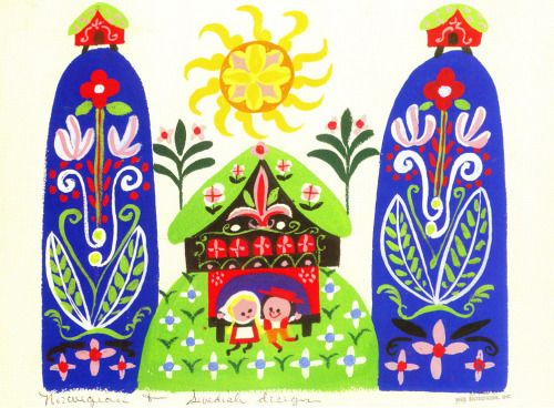 Visual Development for It's a Small World by Mary Blair