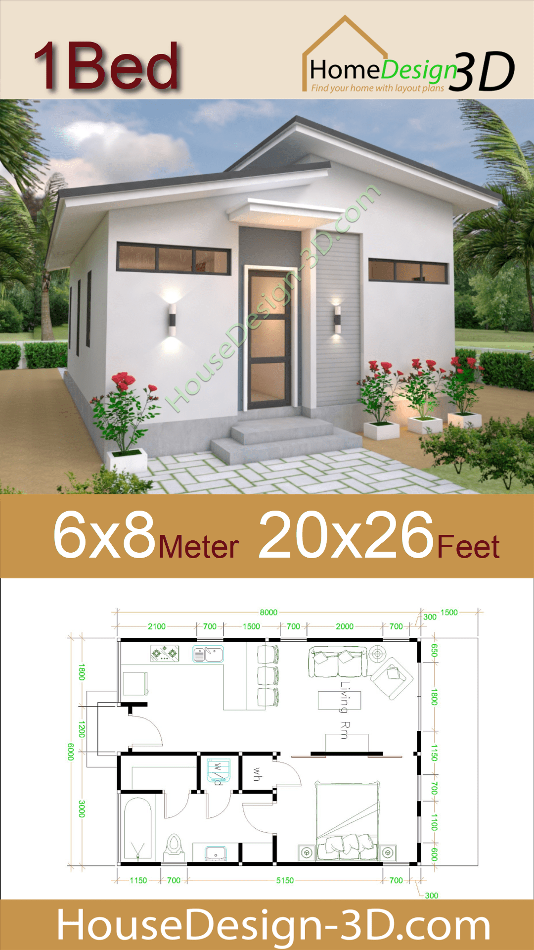 Studio House Plans 6x8 Shed Roof Free Download House Design 3d Small House Design House Plans Tiny House Design