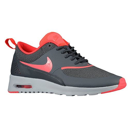 nike air max thea dark grey and hyper punch color