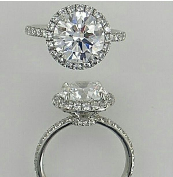 I'm a sucker for the single stone surrounded by micropave setting
