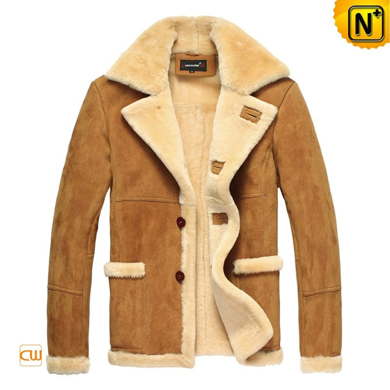 1854c48b9b4 Men s Luxury Sheepskin Lamb Fur Lined Leather Winter Coat CW819139 -  Valentine s Day Gift  1228.89