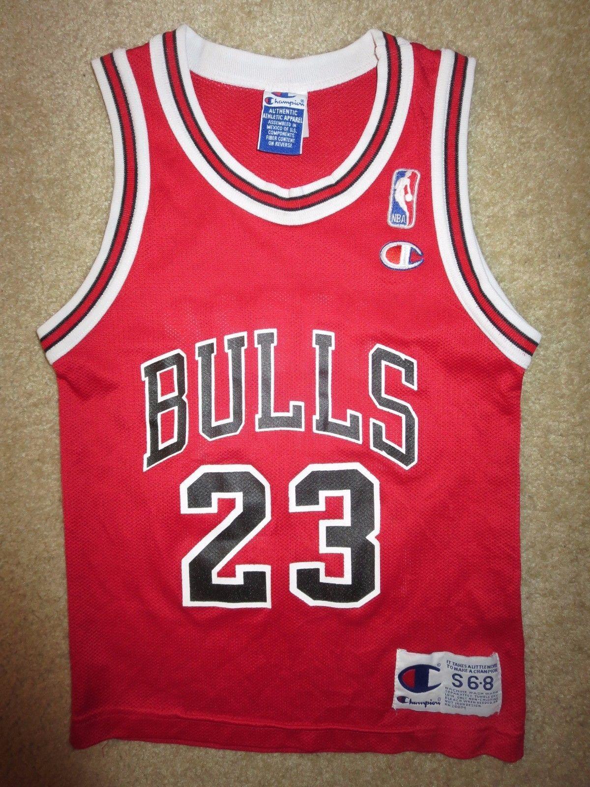 1e7fc017ecf74f Michael Jordan  23 Chicago Bulls Champion NBA Jersey Youth S 6-8 small child