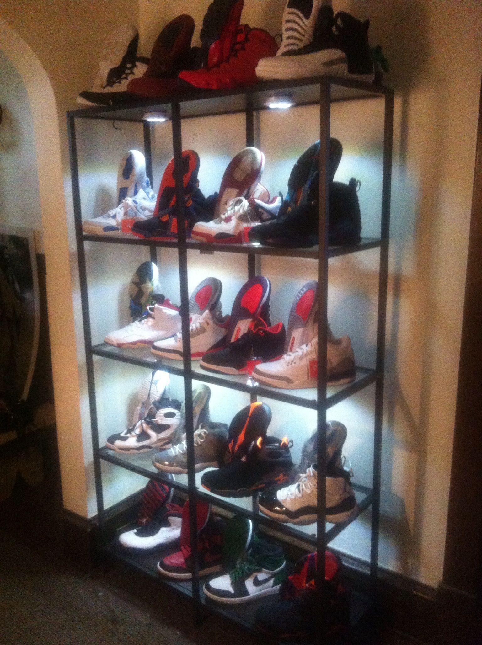 Shoe room, Sneaker storage, Air jordans