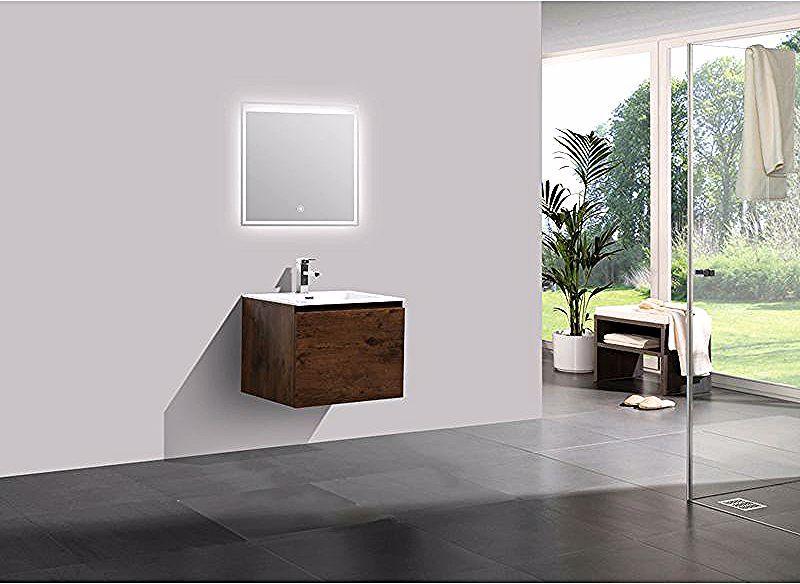 Ensemble De Meubles De Salle De Bain In 2020 Oak Bathroom Vanity Bathroom Units Bathroom Vanity Units