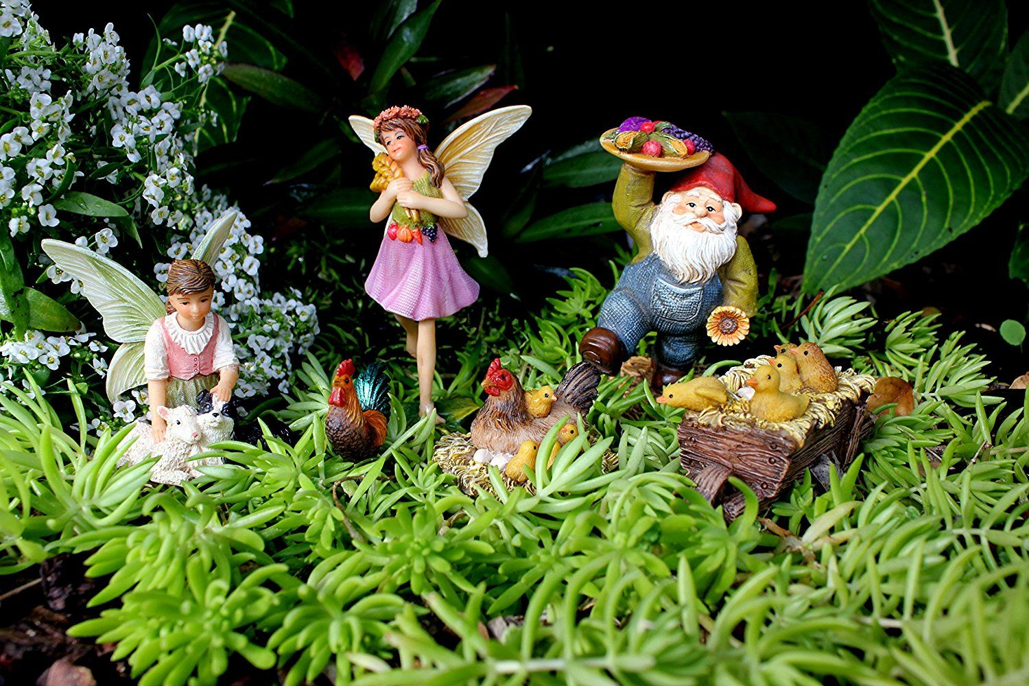 Fairy Garden Accessories Kit With Fairies Miniature Gnome And Farm Animals Fairy Garden Fairy Garden Furniture Miniature Fairy Gardens