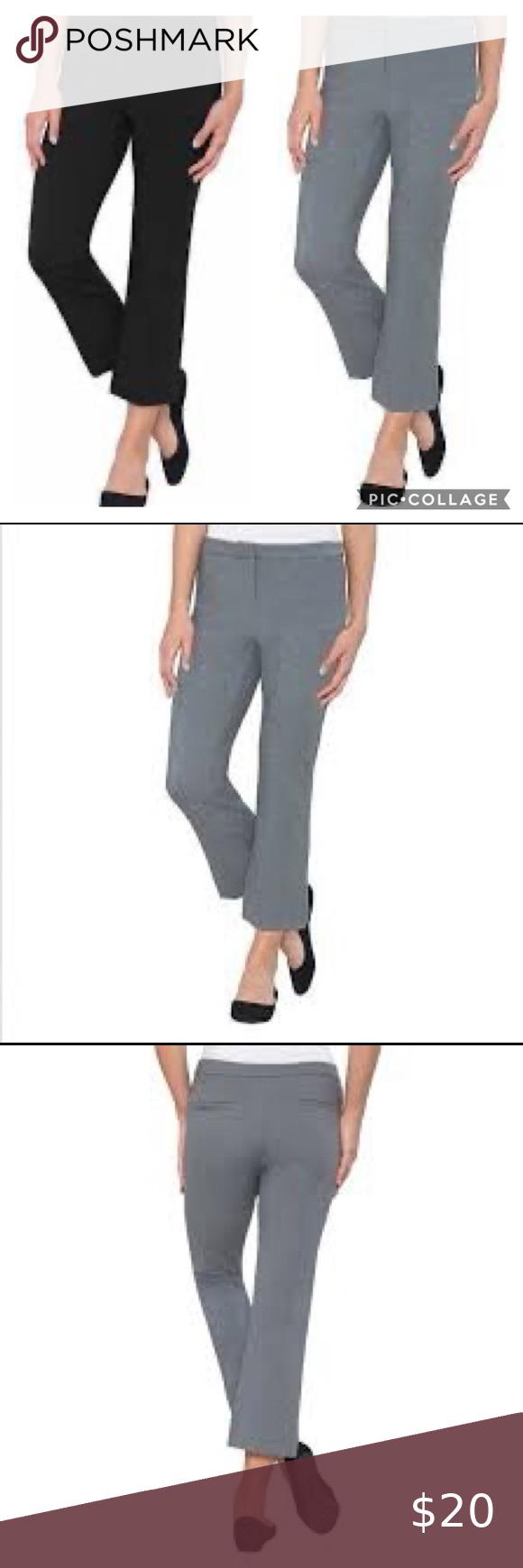 2 Pairs Max Mia Crop Dress Work Pants Black Gray In 2020 Dresses For Work Crop Dress Pants For Women [ 1740 x 580 Pixel ]