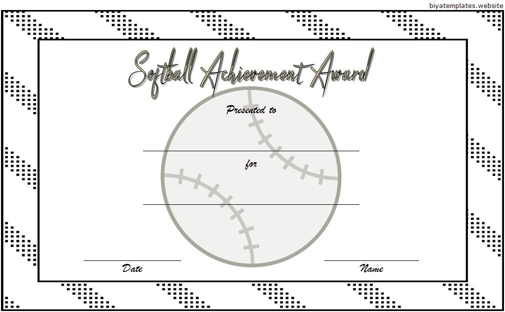 Pin on Softball Certificates Free Printable