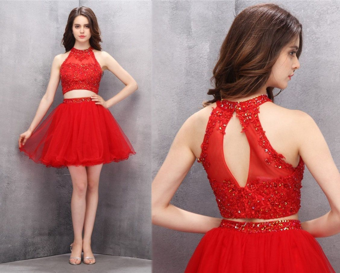 2 Piece Homecoming Dresses,Short Homecoming Dresses,Homecoming ...