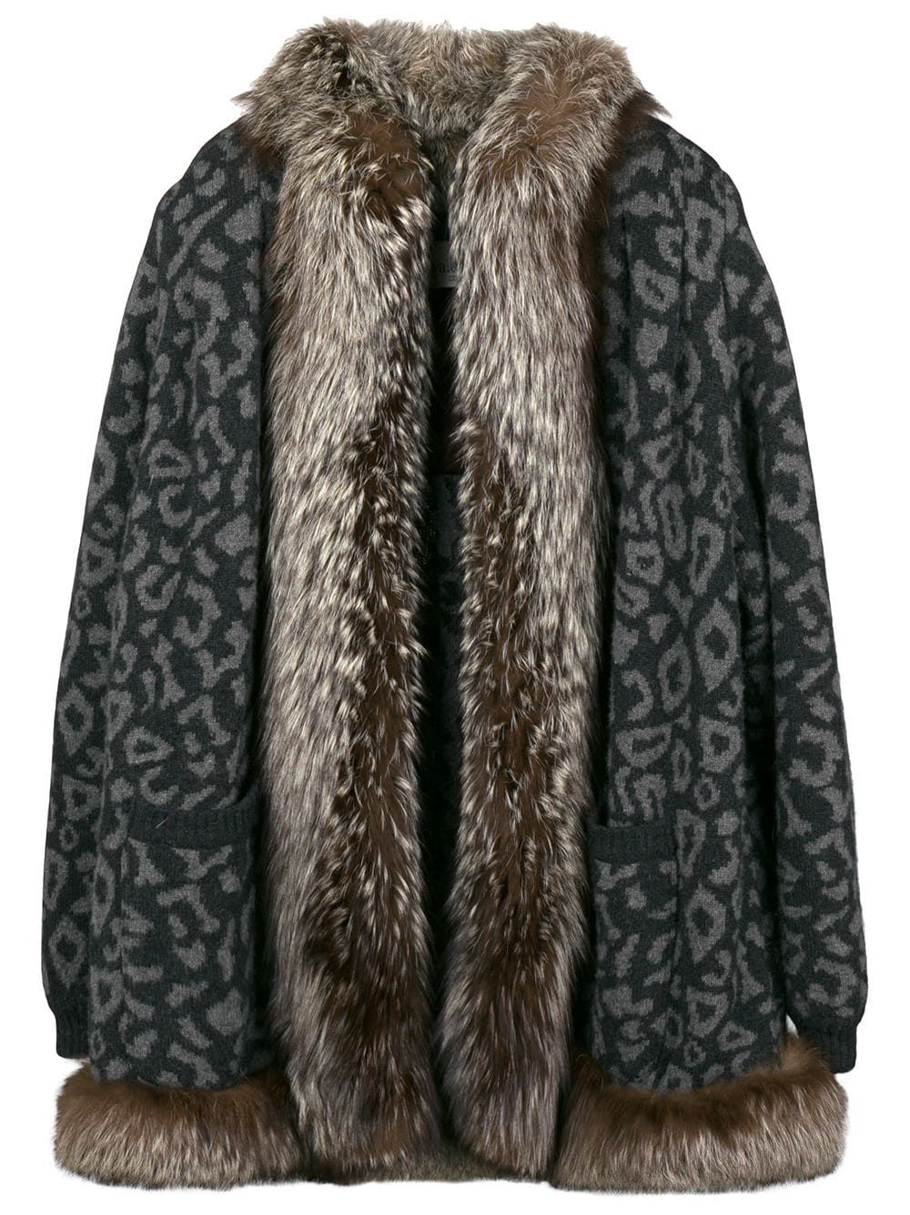3d9cfa540206 VALENTINO PRE-OWNED leopard print fur coat - Grey in 2019 | Products ...