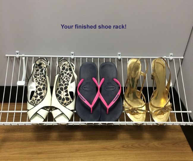 Charmant ClosetMaid Shoe Rack Installation Read Our Tutorial On How To Install A Shoe  Rack Using The ClosetMaid Wire Shelving System!