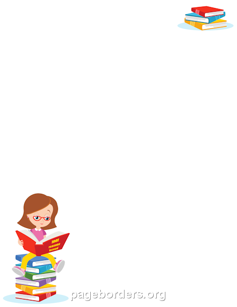 Printable literacy border. Free GIF, JPG, PDF, and PNG downloads at http://pageborders.org/download/literacy-border/