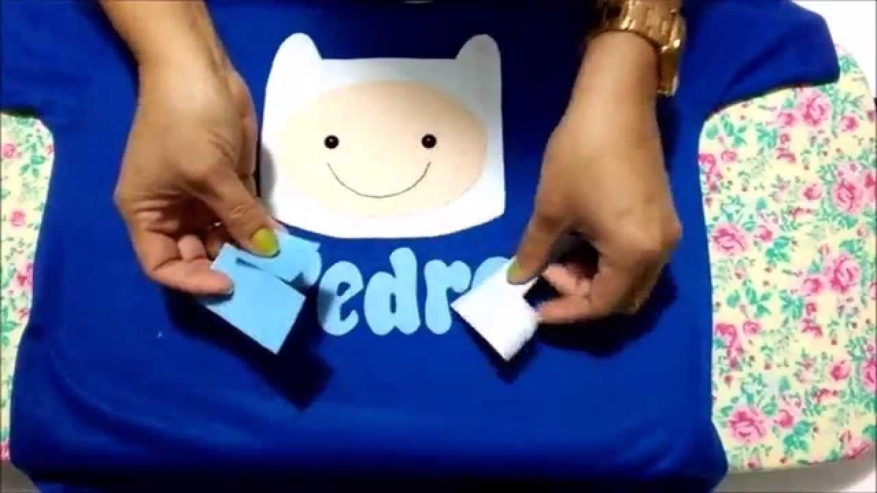 1b2bff237 Como aplicar feltro em camiseta usando o papel termocolante