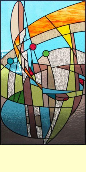 Atelier de vitrail claude thoraval galerie de vitrail et for Faux vitrail sur miroir