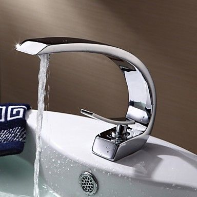 rubinetti lavandino bagno contemporaneo di ottone cromo