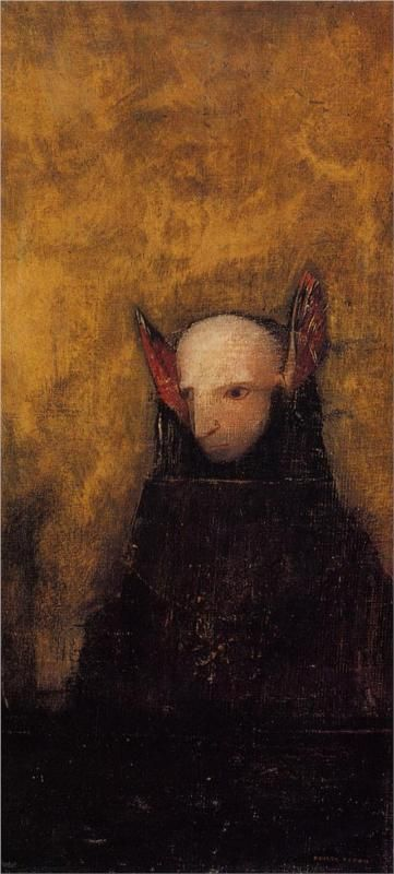 Odilon Redon (French: 1840–1916), [Post-impressionism, Symbolism] The Monster.