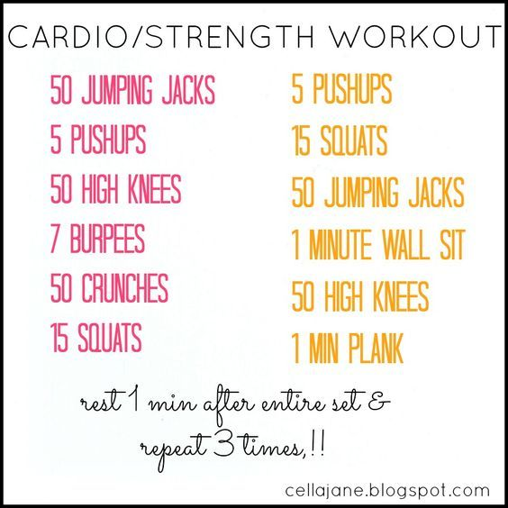 At Home Cardio Strength Workout