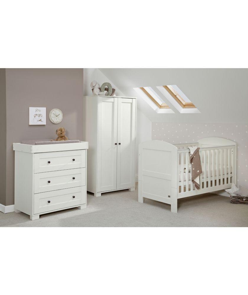 Buy mamas papas harrow 3 piece nursery furniture set for White bedroom furniture argos