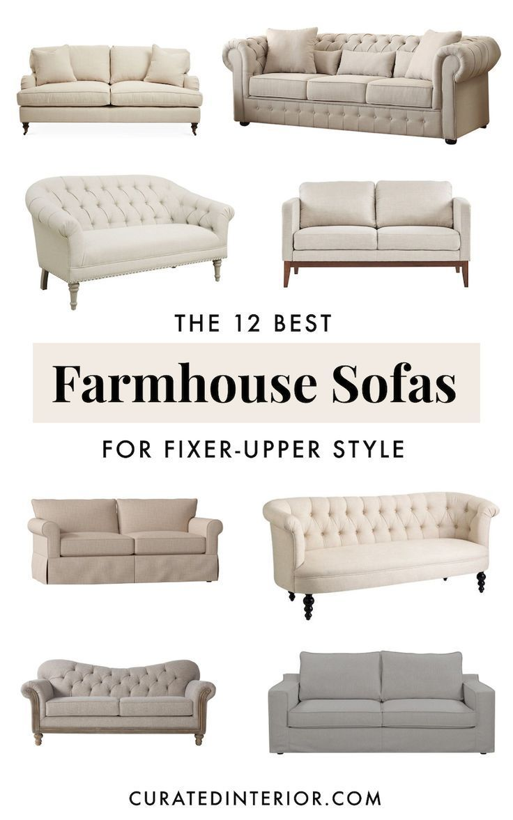 12 Perfect Farmhouse Sofas For All Budgets Farmhouse Living Room