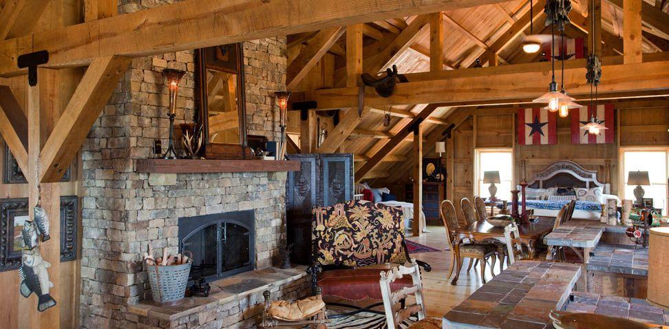 Sand creek post beam traditional wood barns barn for Post and beam barn home kits