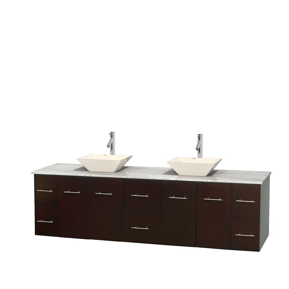 Wyndham Collection Centra 80 Inch Double Bathroom Vanity In