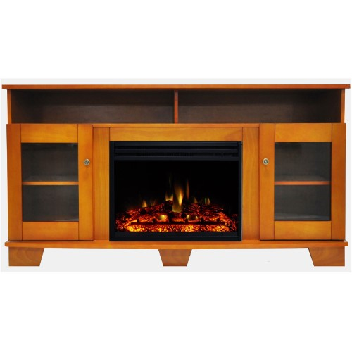 Best Cambridge Savona Electric Fireplace Heater With 59 In 400 x 300