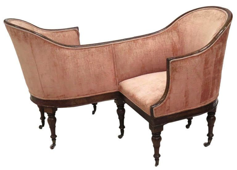 A Victorian courting bench. - 41 Best Tête-à-tête Chairs Images On Pinterest Contemporary