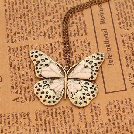 Min.order é de R $ 10 (ordem da mistura) 31A30 Moda borboleta do vintage colar de jóias por atacado! CRISTAL SHOP $0,97