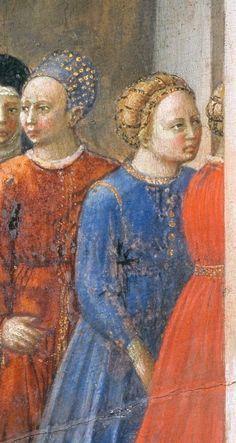 Masaccio - Desco da Parto: Scena di nascita (recto), dettaglio - 1426 - Staatliche Museen, Berlino