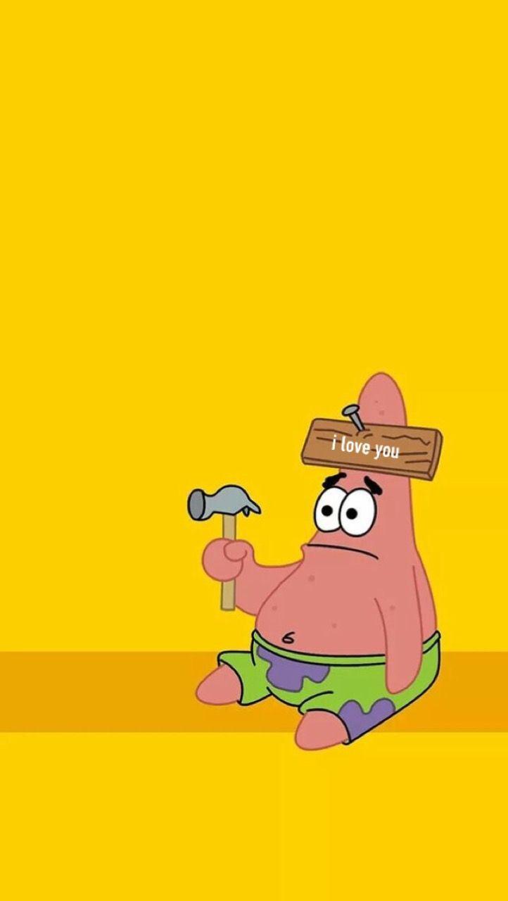 Patrick Star Aesthetic I Love You Spongebob Wallpaper Cartoon Wallpaper Iphone Wallpaper Iphone Cute