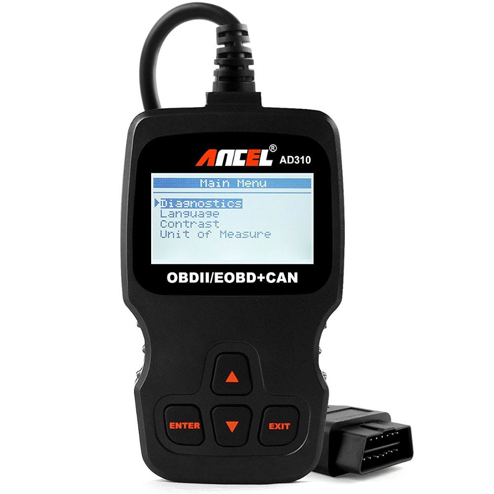 Ancel classic enhanced universal obd ii scanner car engine fault code reader can diagnostic scan tool read and clear error codes for 1996 or newer protocol