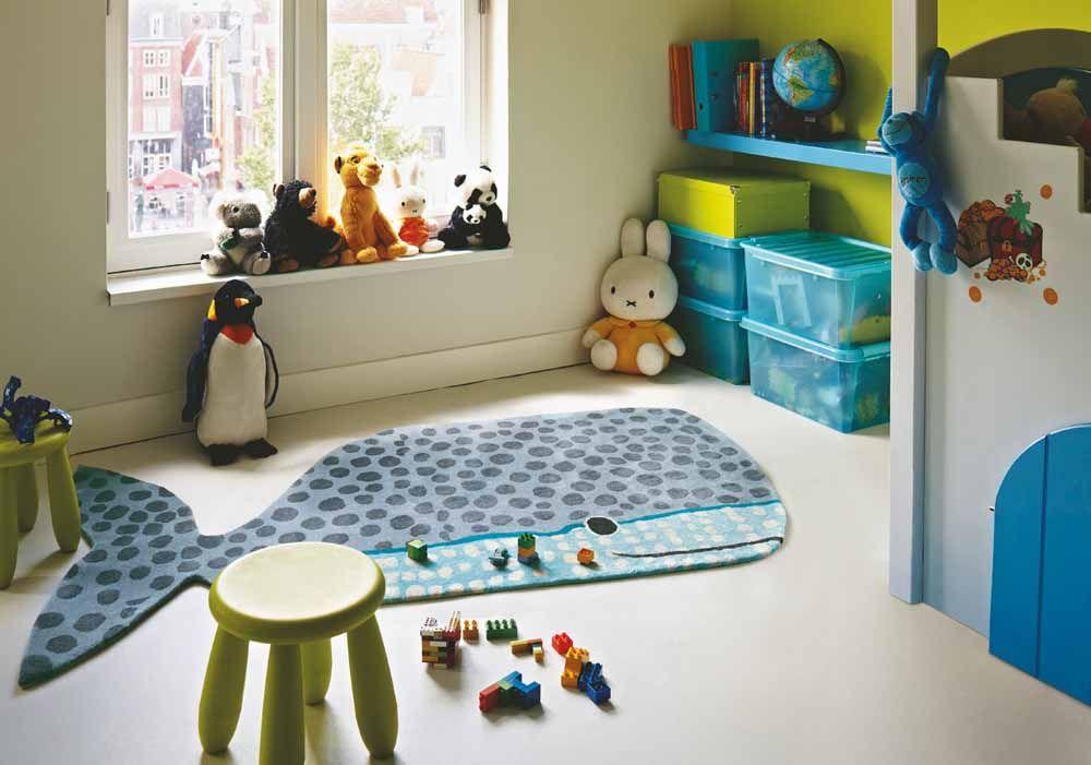 Kids Woll Kinderteppich Wal blau Kinderteppiche, Teppich