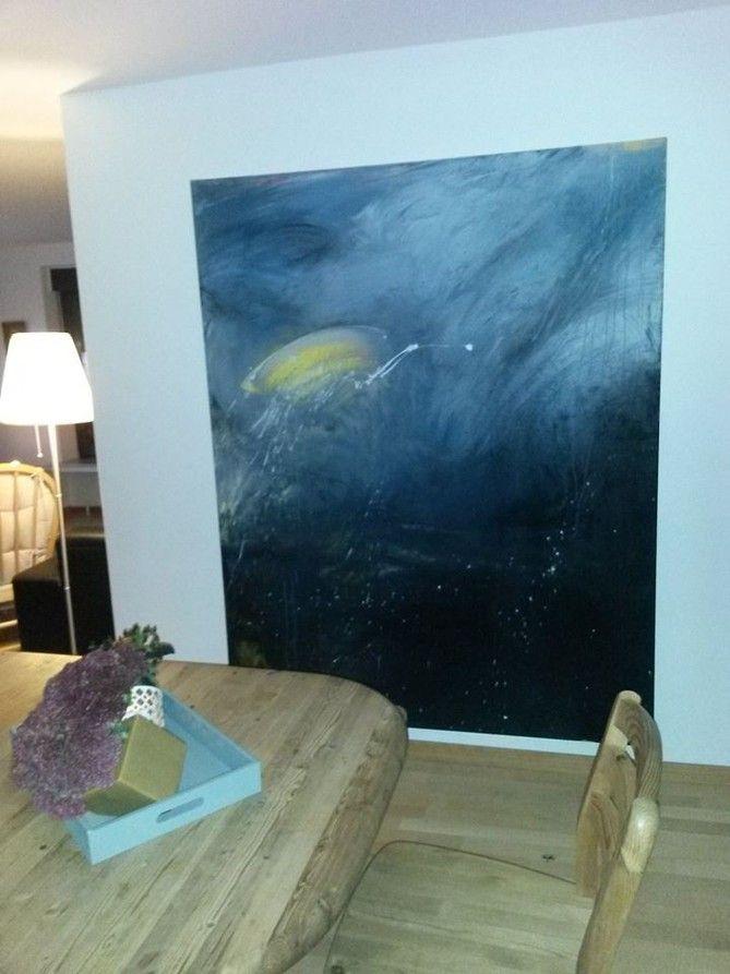 Braungrau · Bild In Blau Taupe Großformat