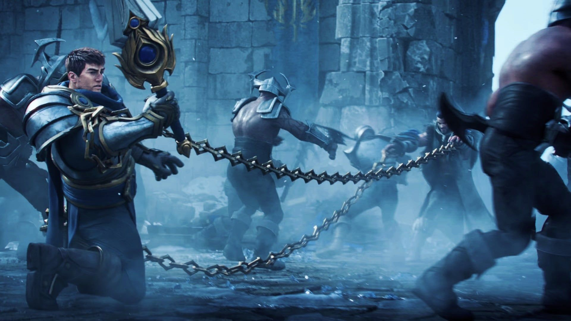 League Of Legends 2020 Warriors Cinematic Wallpapers L2pbomb In 2020 League Of Legends Warriors Wallpaper Legend
