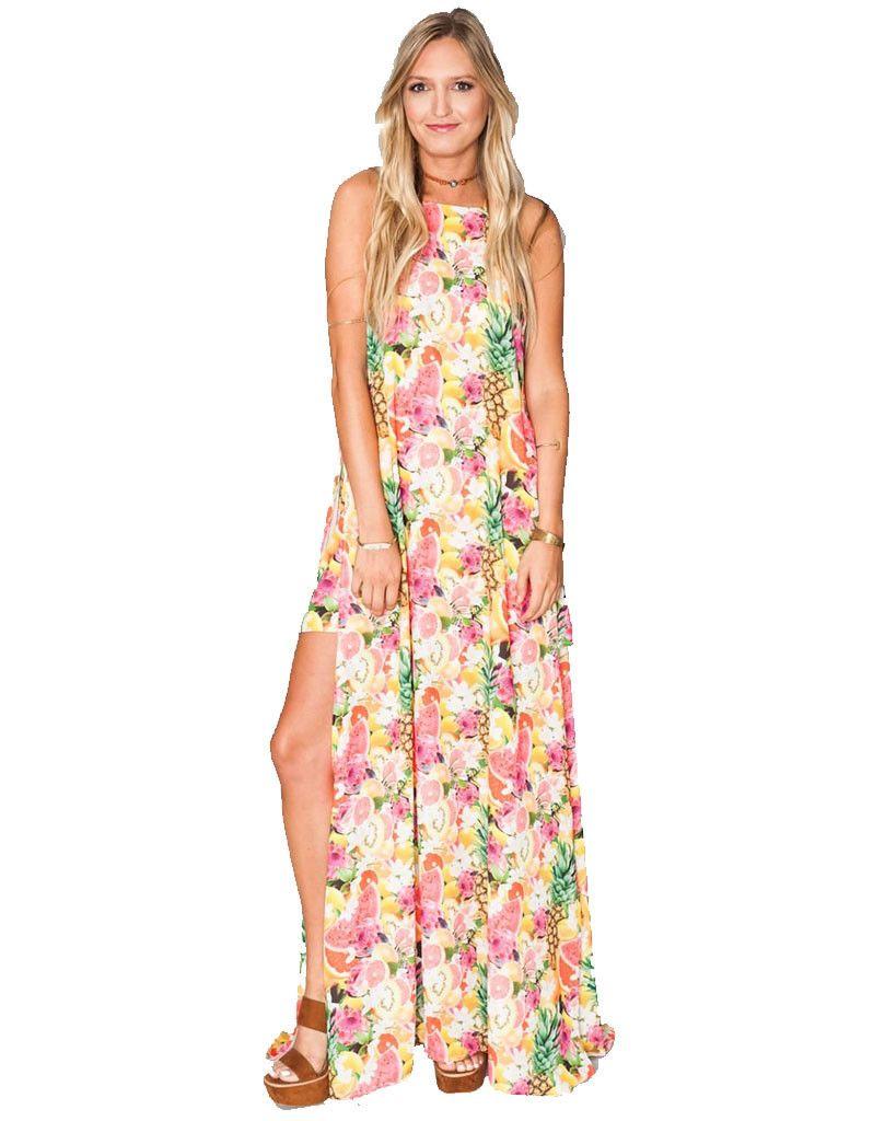 Show Me Your Mumu Bronte Maxi Dress in Tutti Frutti – SWANK