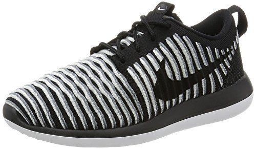 uk availability c062a bacd4 Nike Women s Roshe Two Flyknit Running Shoes-Black-5 NIKE https