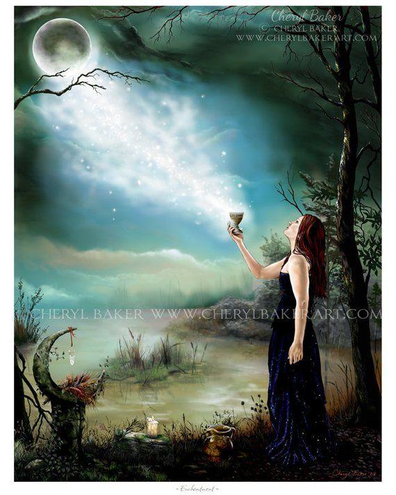Wicca Art Print Wicca Wiccan Wiccan Art Pagan Art Wiccan